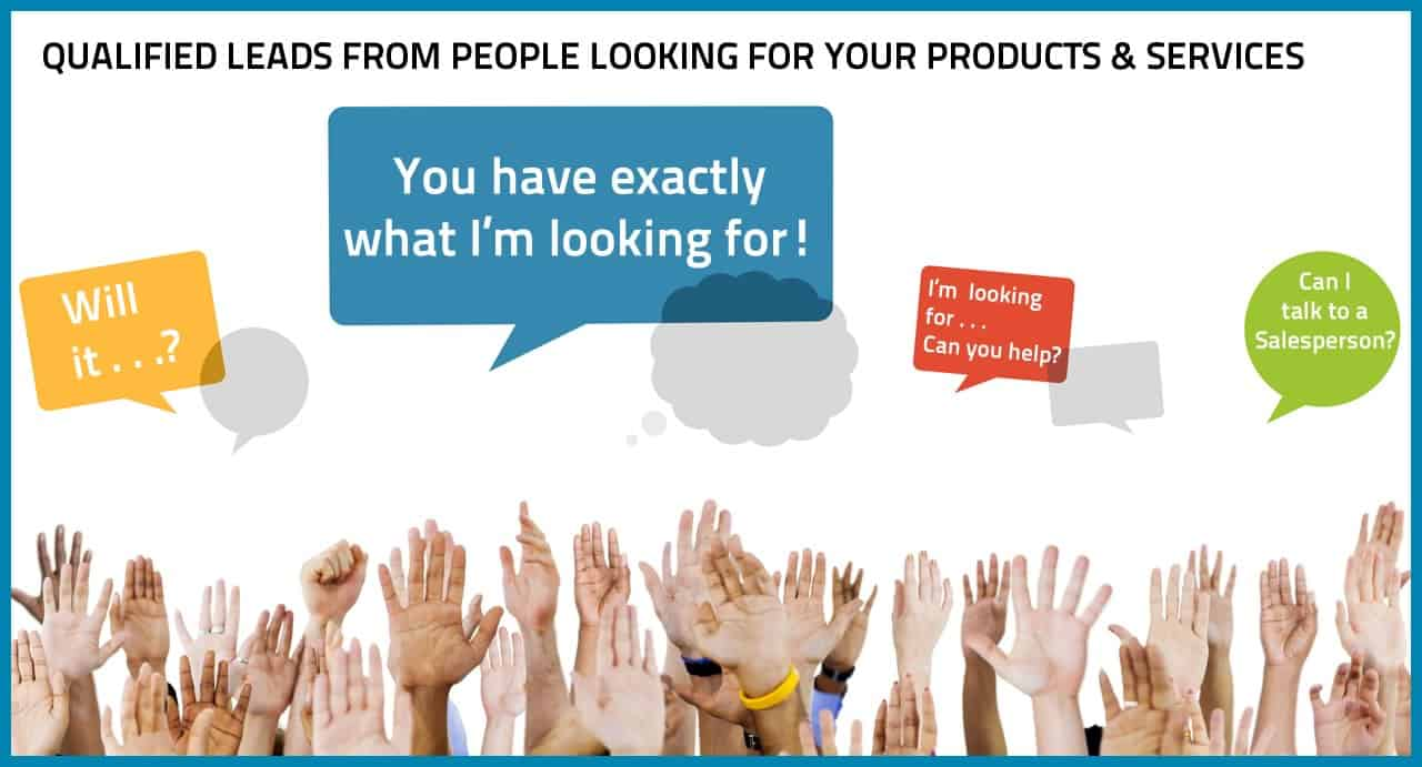 Qualified Leads from People Ready To Buy Your Products & Services